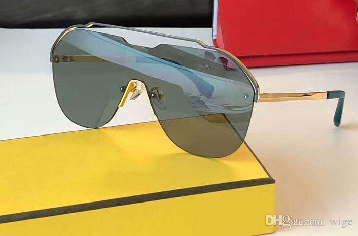 Lüks M0030 / S Güneş Gözlüğü Altın Çerçeve Yeşil Lensler Sonnenbrille Tasarımcı Güneş Gözlüğü Kutusu ile Yeni
