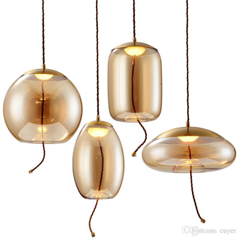 Minimalist Creative Glass LED Chandelier Lighting Designer Lighting For Living Room Coffee bar Model Dining Room Lamp