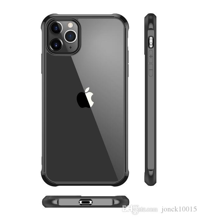 Applicable iPhone11 mobile phone case Apple 11 pro max protective cover four corner anti-drop cover acrylic hard shell wireless earbuds