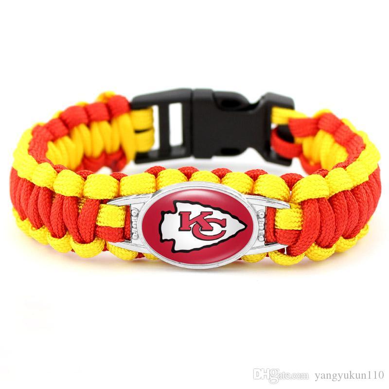 20pcs Kansas City Chiefs Football Team Sports Dangle Charms For Women Bracelet