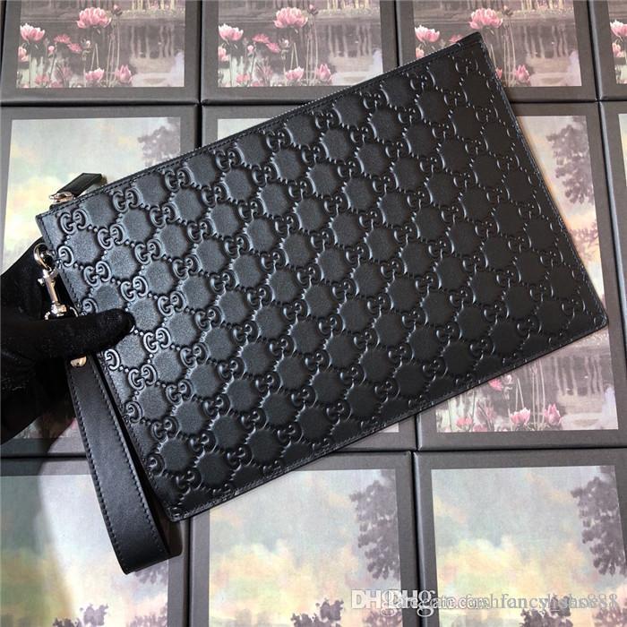 couro fino bolsa grande capacidade conveniente para transportar coleção de viagem essencial pacote de cartão de carteira móvel Com embalagem original