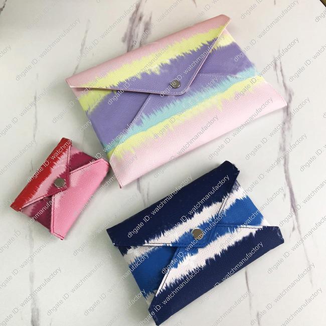 3 peças de um conjunto de designer bolsas bolsas bolsa pochette kirigami escale womens organizador saco ipad cartões de passaporte caso Envelope Bolsa carteiras