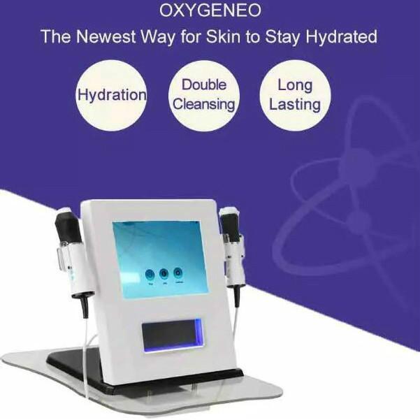3 en 1 CO2 Bulle Nettoyage en profondeur oxygène Jet RF par ultrasons du visage anti-âge éclaircissant Équipement machine