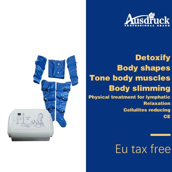 EU Taxa Imposto Prensaterapia Linfática Drenagem Gordura Remova Máquina Slim Pressão de Ar Detox Corpo Emagrecimento Envoltório Desintoxicação Perda de Peso Dispositivo de Beleza