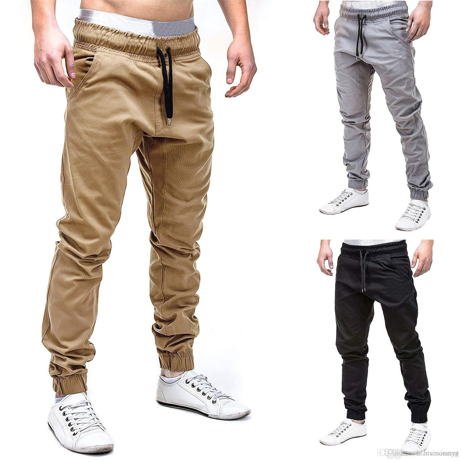 2020 2019 Men Chinos Skinny Joggers Sports Summer Long Harem Pants Casual Solid Color Trousers Hombres De Pantalones Camouflage Gym Pants Mens From Bianvincentyg 10 61 Dhgate Com