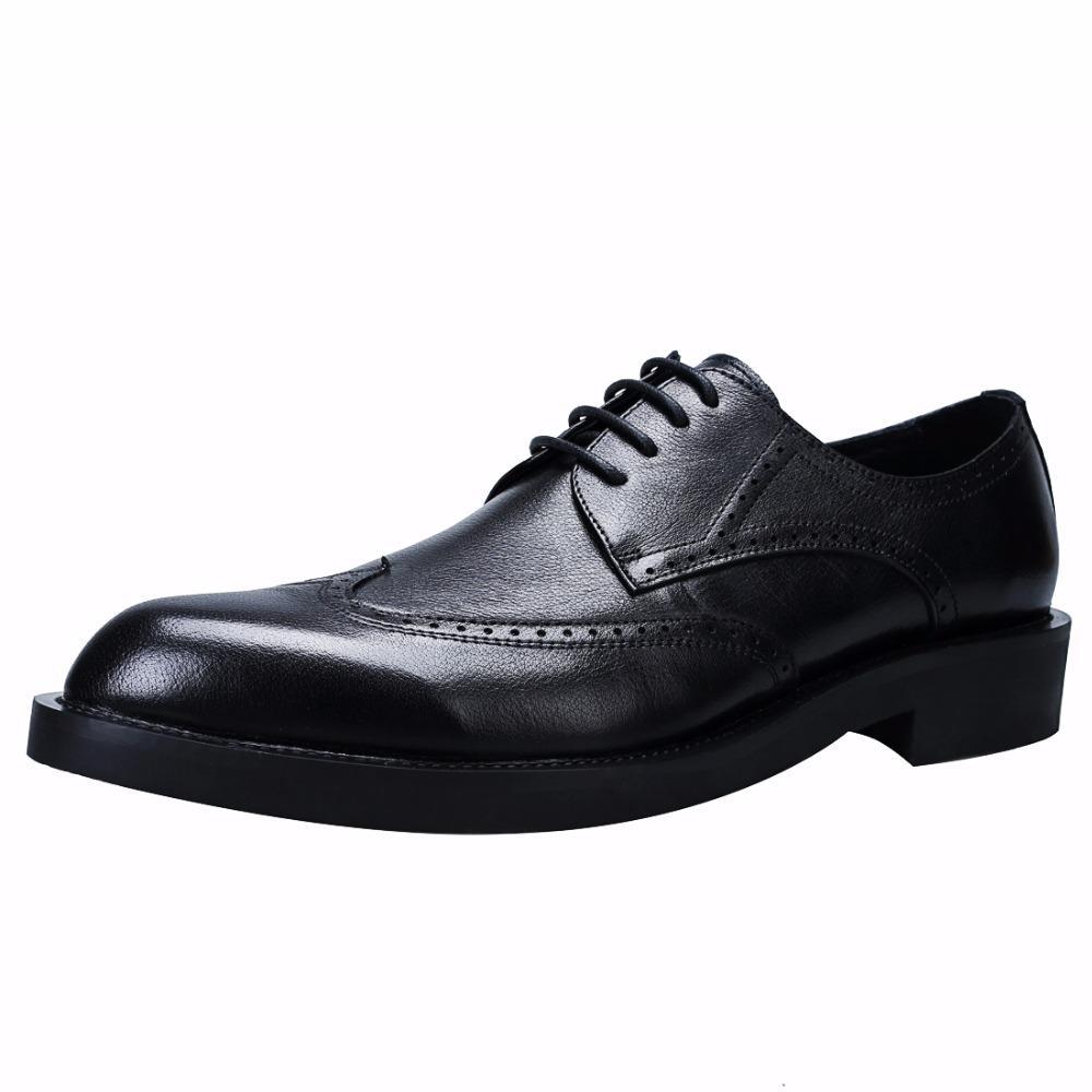 كبيرة الحجم الرجال جلد طبيعي الرجعية منحوتة الأعمال اللباس أحذية الرجال الدانتيل متابعة أشار تو أحذية واسعة تنفس بولوك