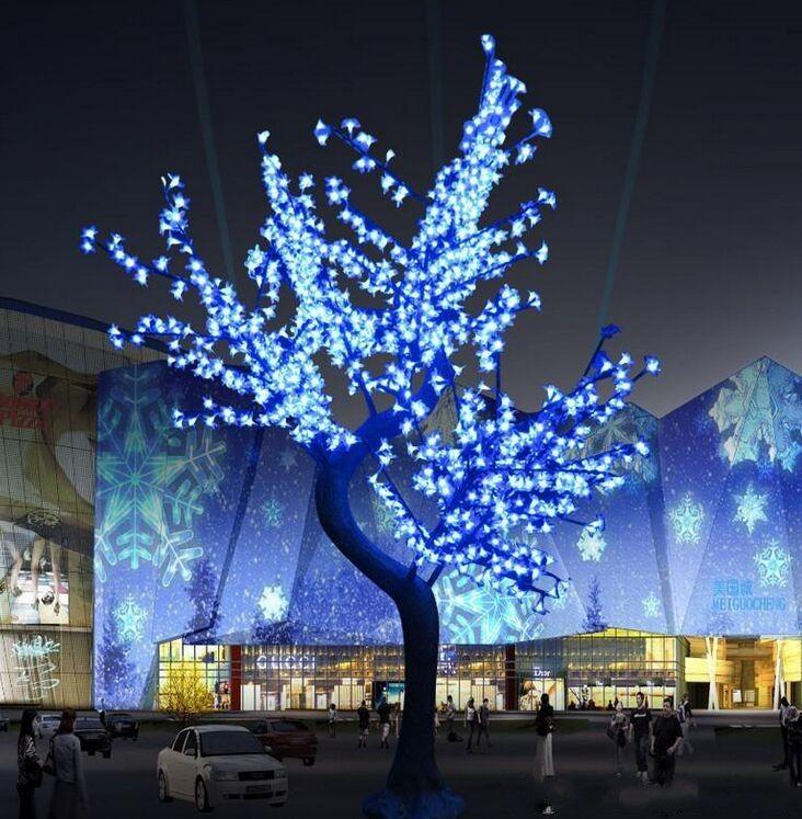 Albero lucido LED Cherry Blossom di Natale Illuminazione impermeabile Giardino Paesaggio decorazione della lampada per le nozze accessori per la festa di Natale