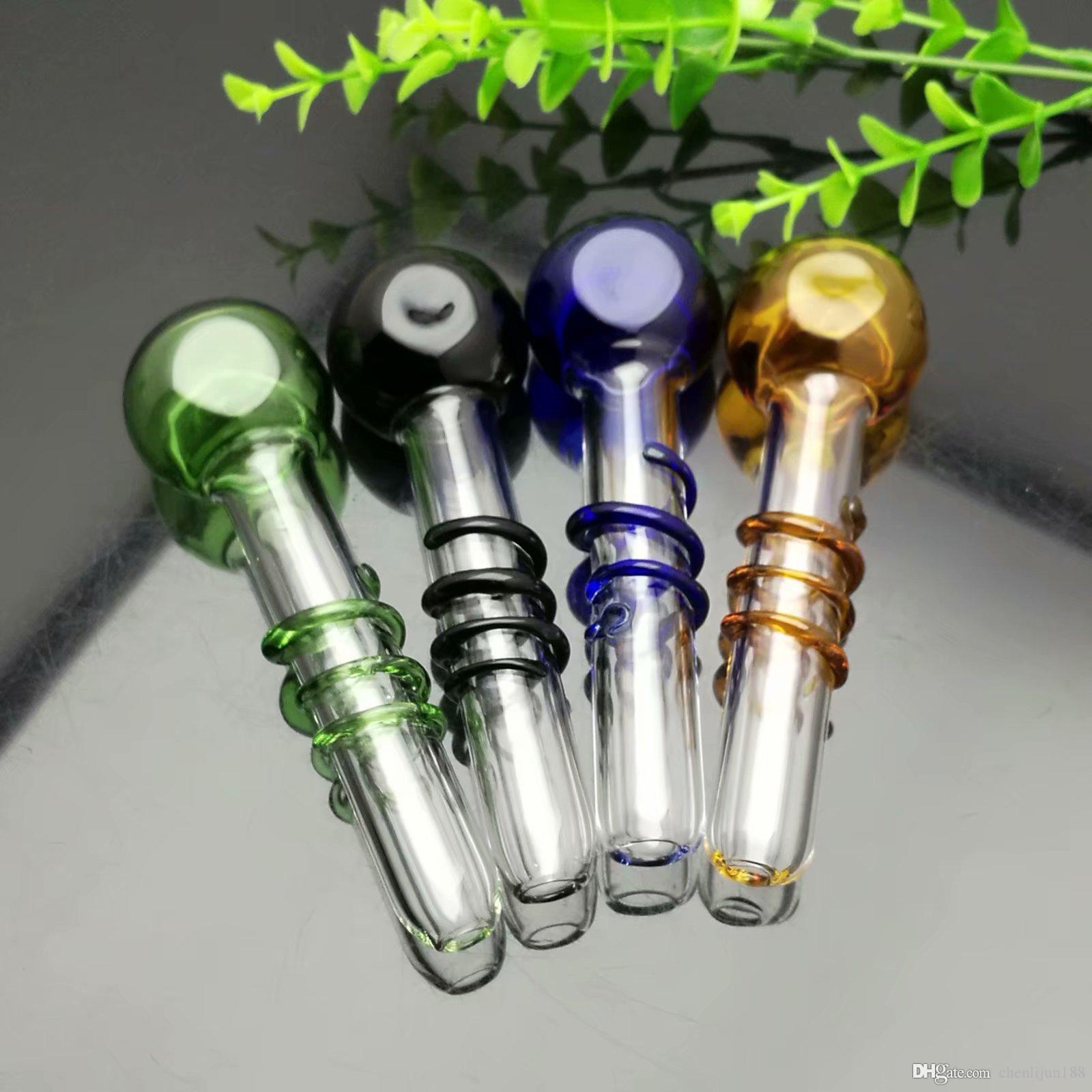 Colorato tubo di vetro filo Grande Pyrex Glass Oil Burner Pipa Spesso piattaforme petrolifere pipa ad acqua in vetro