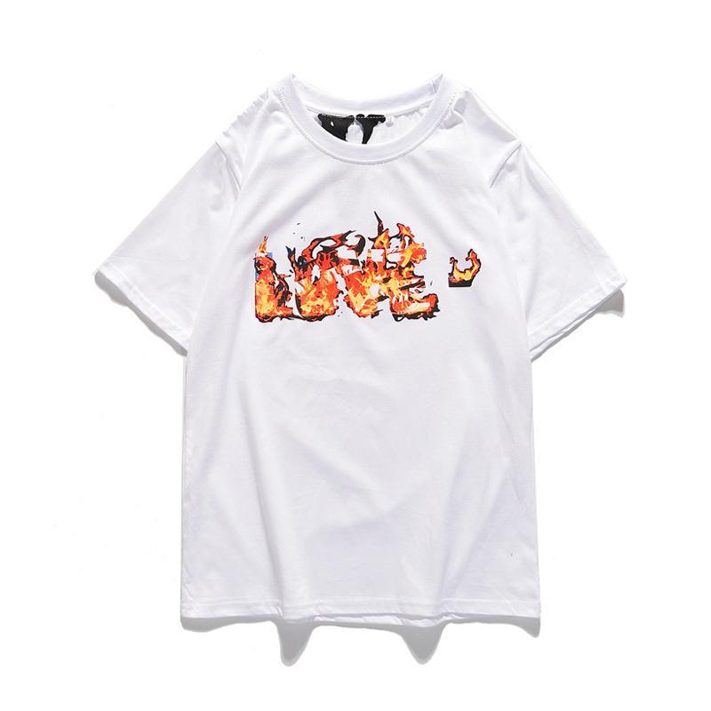 Vlone 19SS manera de las mujeres de los hombres del estilista Camisetas para hombre de Hip Hop Streetwear Vlone de algodón de manga corta Amigos v grande del logotipo de las mujeres del patín camisetas