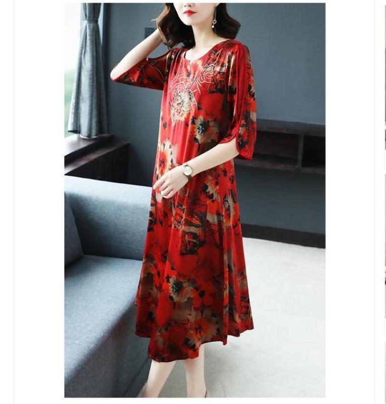 New Style estômago coberto Hangzhou Mulberry Silk Todos Tamanho frete grátis Vestido Noble
