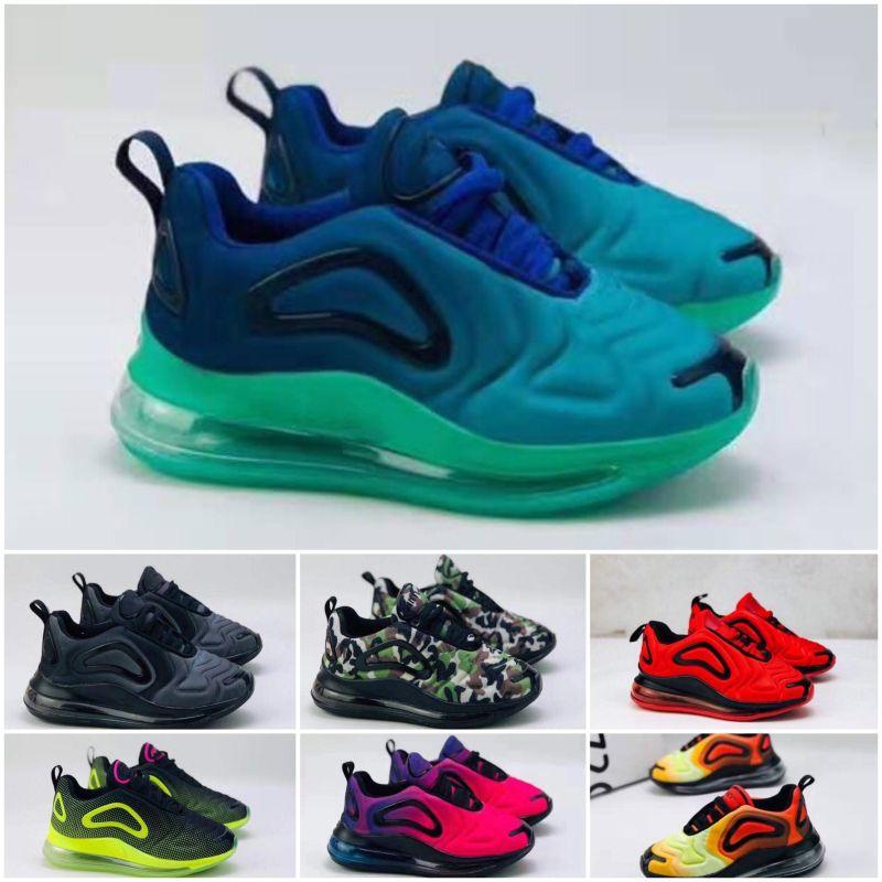 Nike air max 720 2019 muchachas de los cabritos del bebé Operando 72 de diseño Calzado deportivo Zapatos niños Formadores las zapatillas de deporte al aire libre clásico del niño