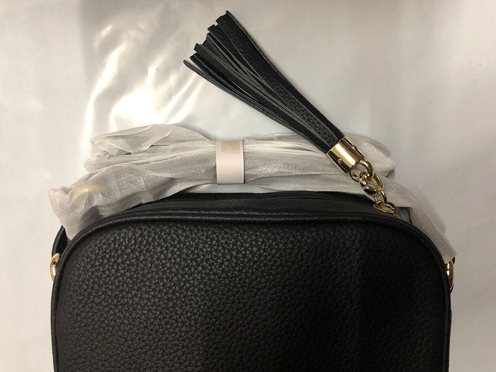 Schnelle Lieferung Designer-Handtaschen SOHO DISCO-Beutel-echtes Leder Quaste Reißverschluss Schultertaschen Frauen Umhängetasche Designer Handtasche Geldbörse