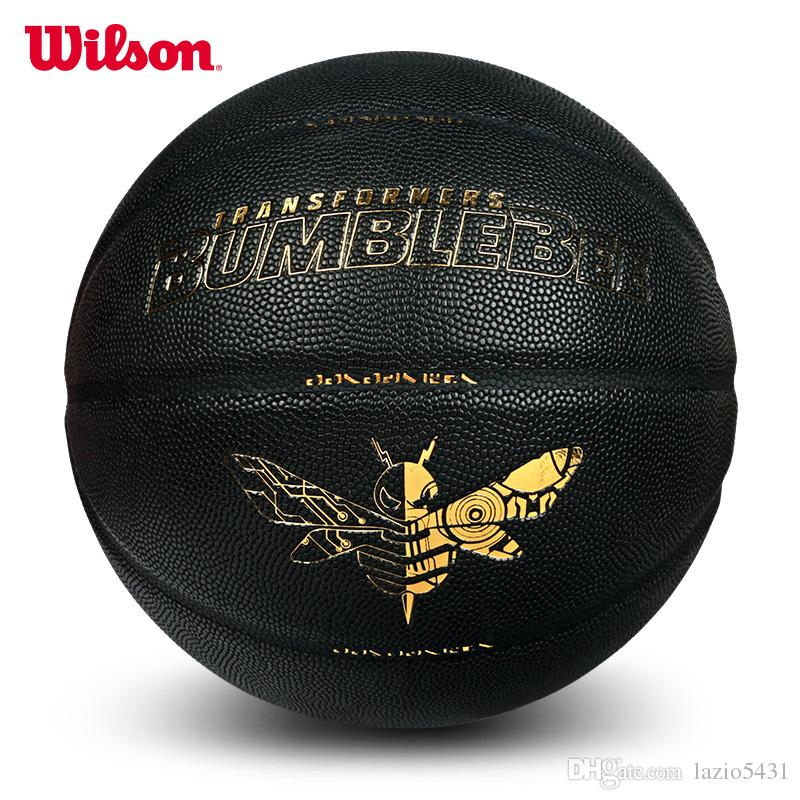 Newest Wilson Bumblebee Joint Basketball hornet Robot Black gold PU leather Indoor Outdoor basketball ball size 7