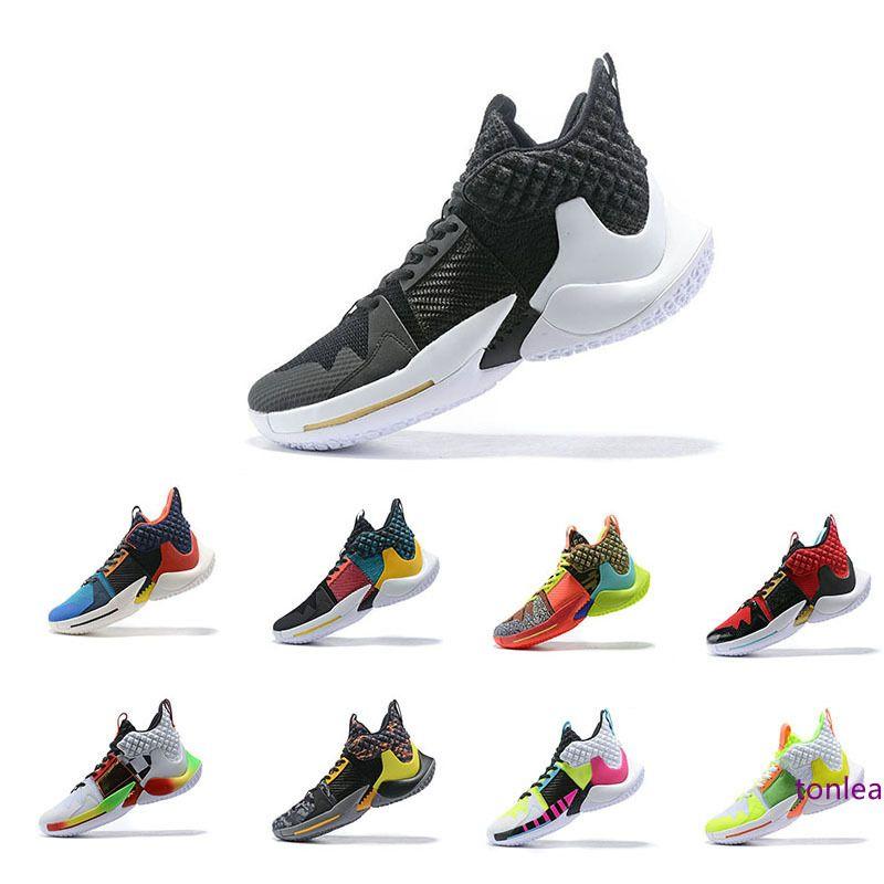 değil basketbol ayakkabıları erkekler 2,0 spor ayakkabıları Russell Westbrook II z sıfır 2 orijinal eğitmenler 7-12 sneakers neden 2019 En kaliteli
