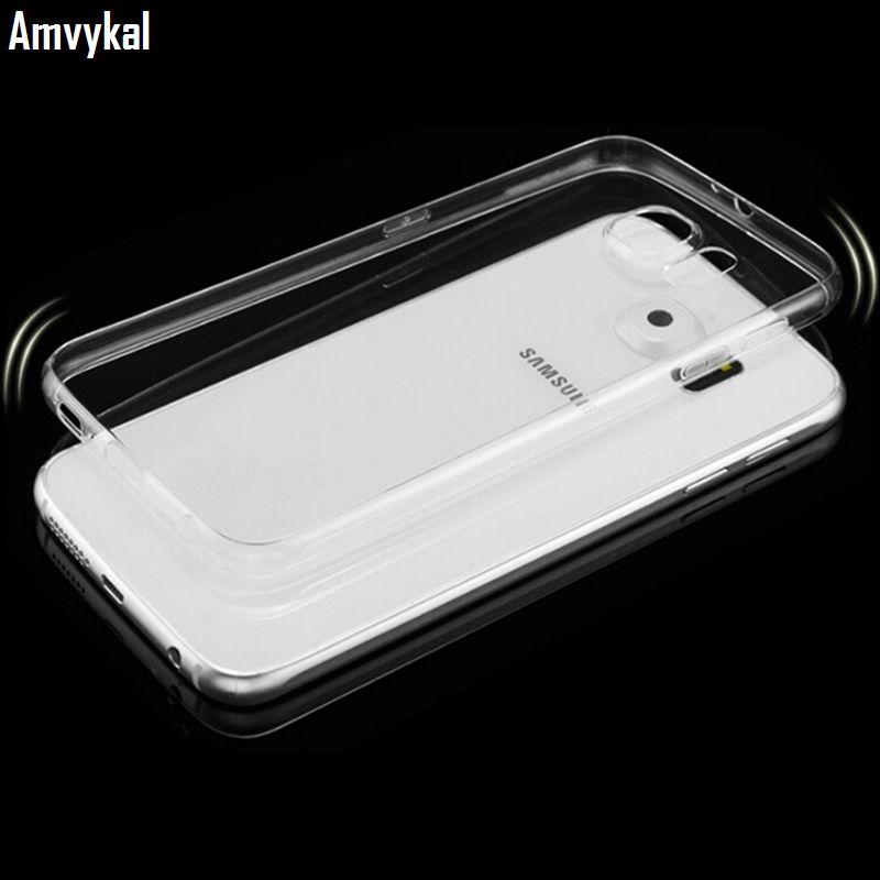 Samsung Note 10 S10 S9 S8 artı S7 Kılıf Şeffaf Kristal Silikon Telefon Kapak özgü ultra ince 0.6mm Yumuşak TPU Şeffaf telefon kılıflar