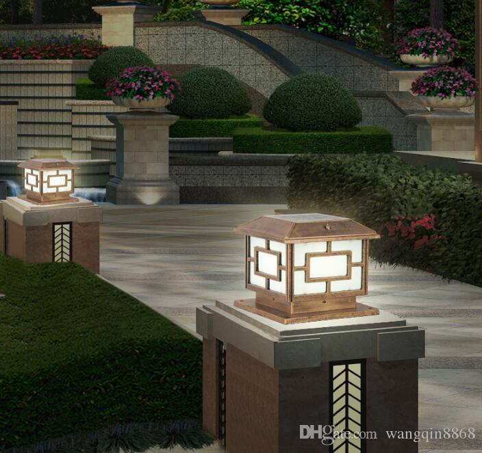 Открытый Солнечный сад Забор Столб Лампа Водонепроницаемая Вилла Паркинг Courtyard Gate Column Light Pool Улица Почтовый Cap Lamp