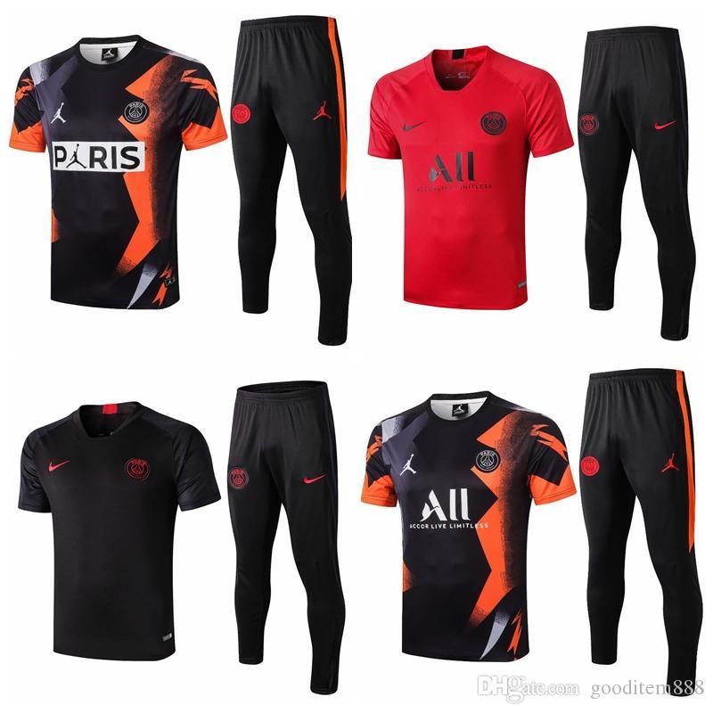 S-2XL PSG Survêtement chemise Paris DI MARIA MBAPPE Griezmann CAVANI 19 20 Verratti Survêtement costume formation de football PSG football Pogba