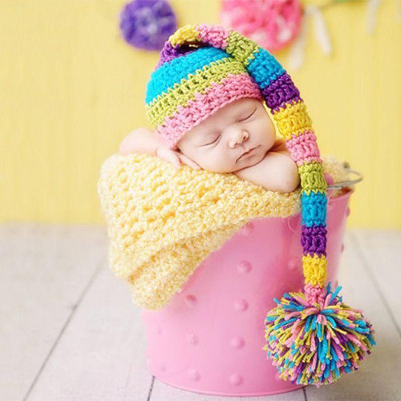 طفل التصوير دعامة مولود جديد بوم بوم قبعة مع ذيل طويل الرماية الطفل الفوتوغرافية الفوتوغرافية الوليد صور الملحقات الرضع صور الفوتوغرافية