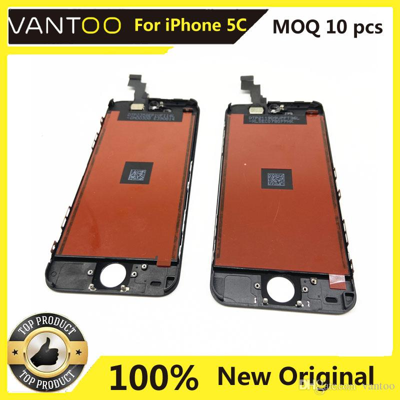 100% Original Display For iPhone 5C LCD Touch Screen iPhone 5c Original Mobile Phone Display With Camera Ring And Dust Filter