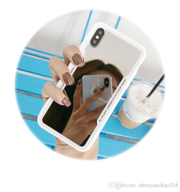 Pour iPhone 7 Cas Couleur Placage Miroir Téléphone Téléphone Délicat Silicone Pour iPhone 6 6S 8 Plus 10 X XR XS XS Max Housse Coque