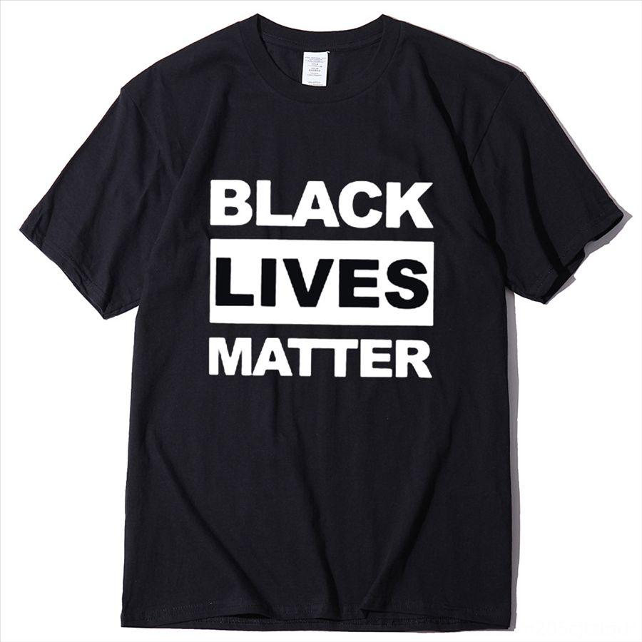 afyGF 2020 corto negro Vidas Materia camiseta para hombres respirar Manga cita que no puede camiseta del lema de cuello redondo Camiseta cabida algodón Tshirt Y200603