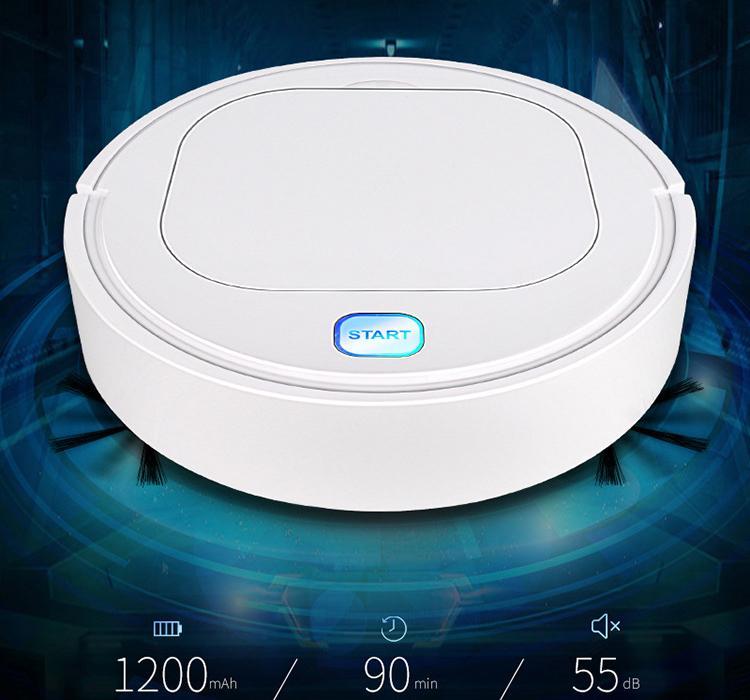 28 * 28 * 6.5cm uso en el hogar baja automática perezosa barredora 1200mAh USB recargable inteligente robot aspiradora máquina de limpieza 3 en 1 función