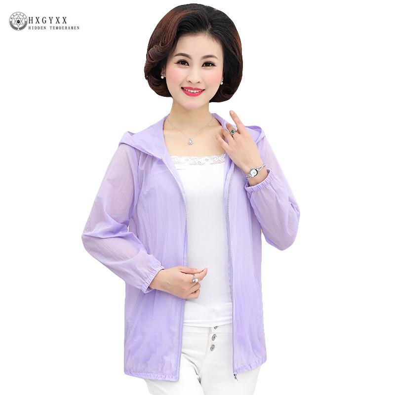 5XL Casual Sólidos Jacket curto Baseball Brasão Mulheres roupa do verão fina com capuz Feminino Sunscreen Windbreaker Plus Size Outwear B220