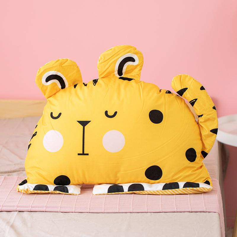 55cm Cute Semicircle Plush Pillow Stuffed Animal Rabbit Tiger Owl Unicorn Toys for Kids Reading Pillow Kawaii Soft Toys Doll