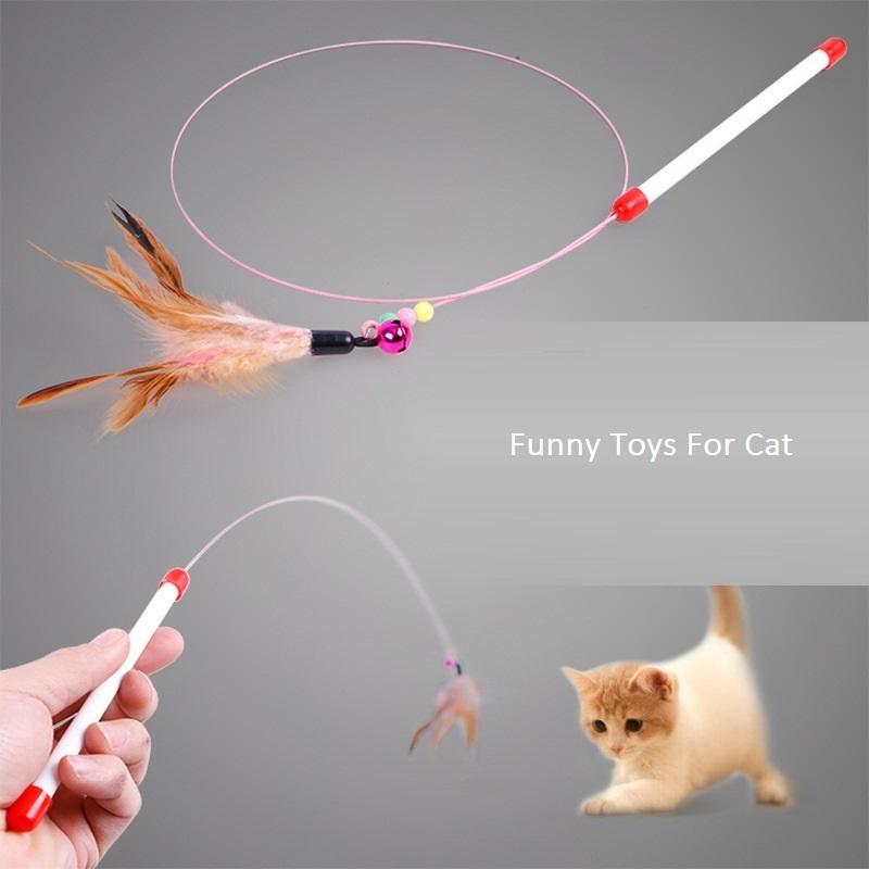 Перо Rop Cat Обучение Инструменты Забавные Игрушки Для Кошек Учебные Принадлежности Cat Pet Котята Интерактивные Интересные Игрушки Pet Product