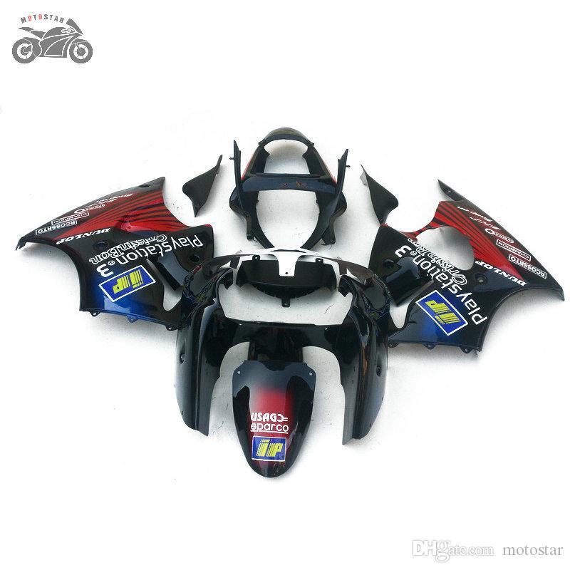 Gratis Anpassa Fairings för Kawasaki 2000 2001 2002 Ninja ZX-6R ZX 6R 636 ZX6R 00-02 ZX 636 ABS Plastic Kinesisk Fairing Kit