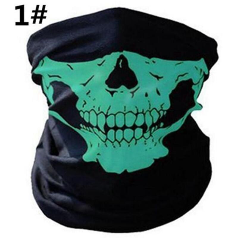 Cara del cráneo máscara de Halloween del cráneo del pañuelo casco de la bici cuello de la cara Máscara Guantes Bufandas Wraps Paintball Sport Ciclismo diadema bufanda 100pcs IIA103