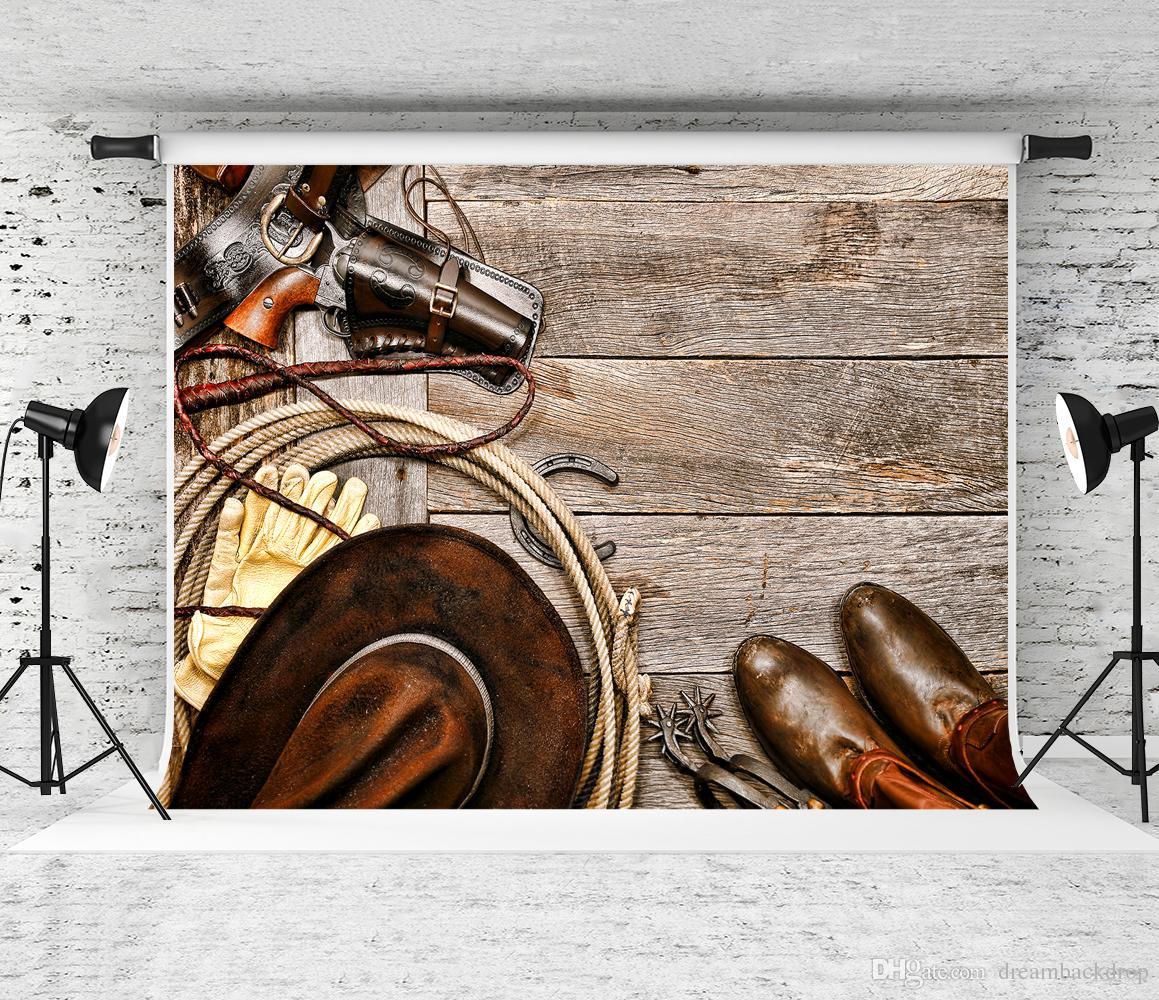Sonho 7x5ft Antigo Cowboy De Madeira Fotografia Cenário Foto Cabine de Fundo Crianças De Madeira Textura Decoation Backdrops Estúdio