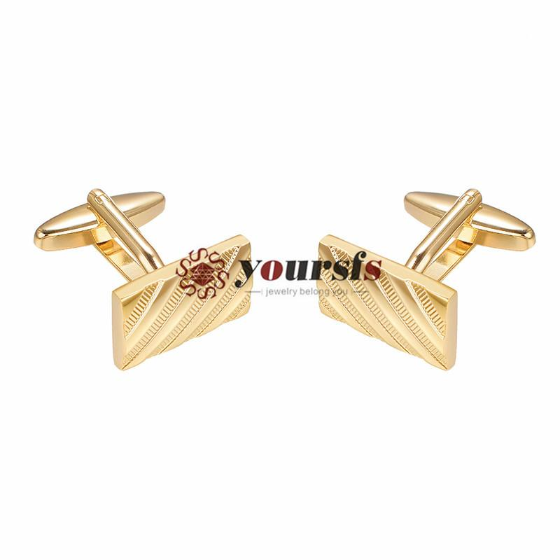 Yoursfs Mens Cufflinks 18K Gold Plated Vintage Cufflinks For Tuxedo Shirt Business Wedding Business with Favour Gift Box