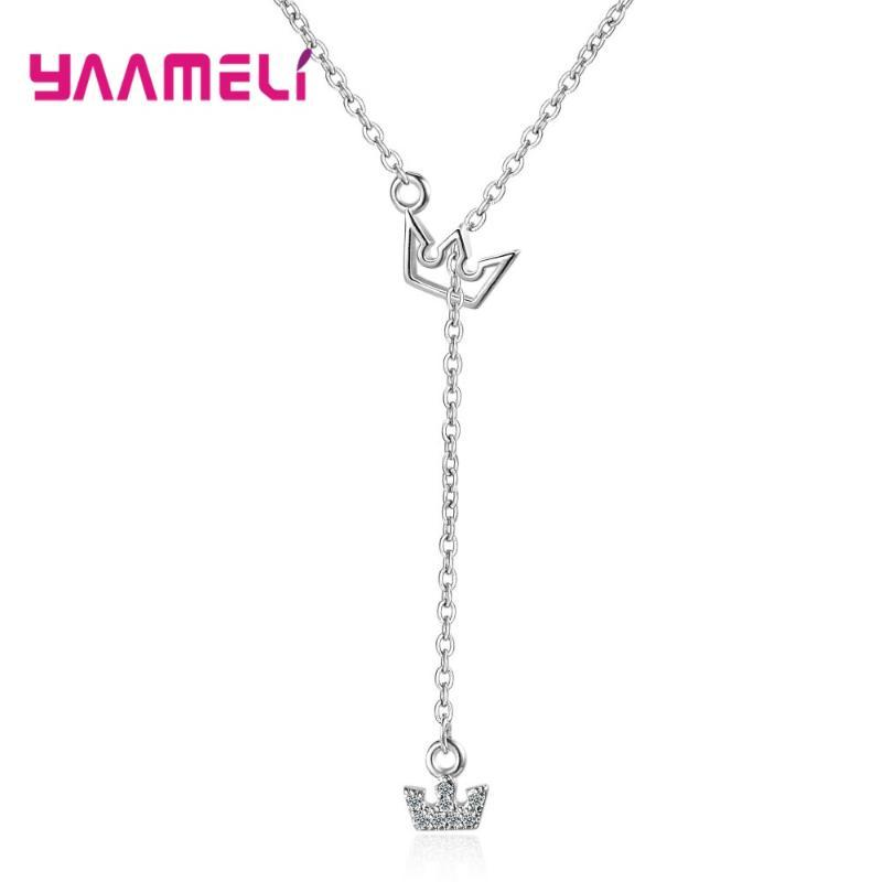 New Fashion Wholesale 925 Sterling Silver Charming Cute Stylish Pendant Adjustable Chains Necklace For Woman Wife Nice Gift