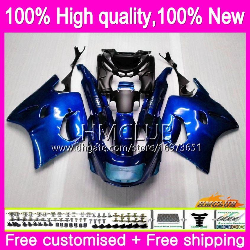 Body For KAWASAKI ZX-11R ZZR 1100 CC ZX11R 93 94 95 96 97 52HM.20 Gloss blue ZZR1100 ZZR-1100 ZX 11R 1993 1994 1995 1996 1997 Fairing kit
