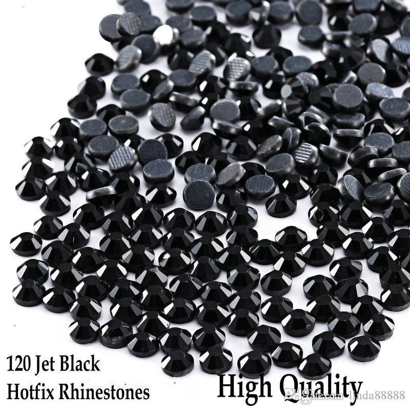 Jet Black All Sizes Black Hotfix Rhinestones Flatback Round Crystals DMC Rhinestones Hot Fix Strass DIY Iron On for multiple use