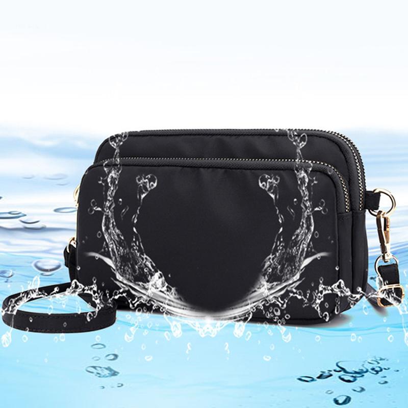 Kore Anne Omuz Çantaları Çok katmanlı Crossbody Çanta Su geçirmez Naylon Kumaş Çanta Seyahat Messenger Çanta