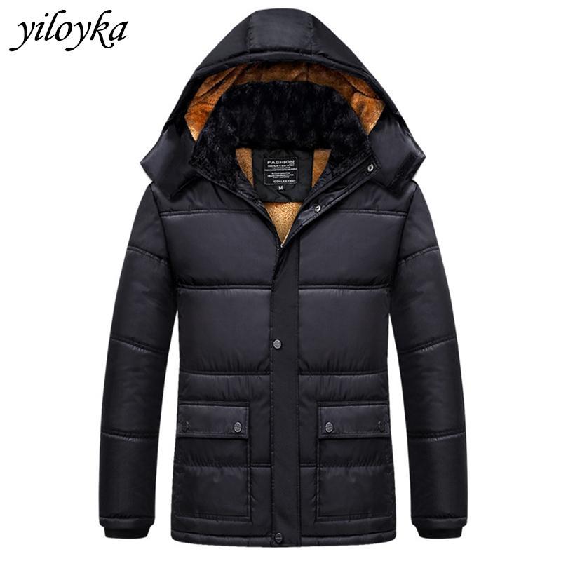 -30 Degree New Inverno Jacket Men Thicken revestimento morno Jackets Exteriores Parka Hombre parkas com capuz casaco de caxemira do homem Homens Mais