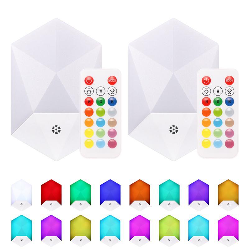 리모콘 에너지 효율적인 벽 라이트 16 색상 4 개 모드로 기분 분위기의 조명을 변경하기로 RGB 나이트 라이트