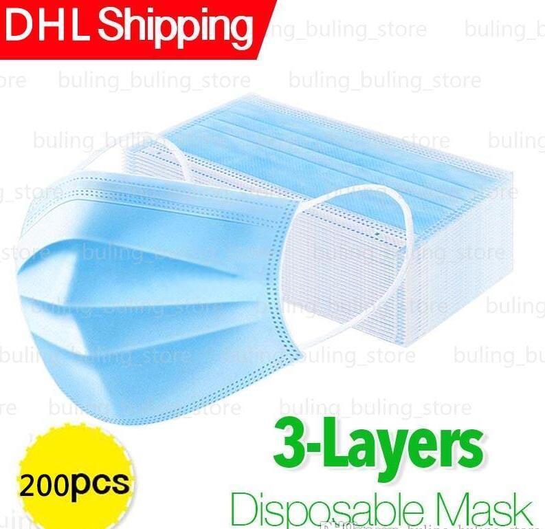 Máscaras desechables ccsme barato Cara De espesor de 3 capas a prueba de polvo Earloop boca del polvo de Máscaras cubierta 3Ply no tejidas polvo, desechables máscara suave y transpirable