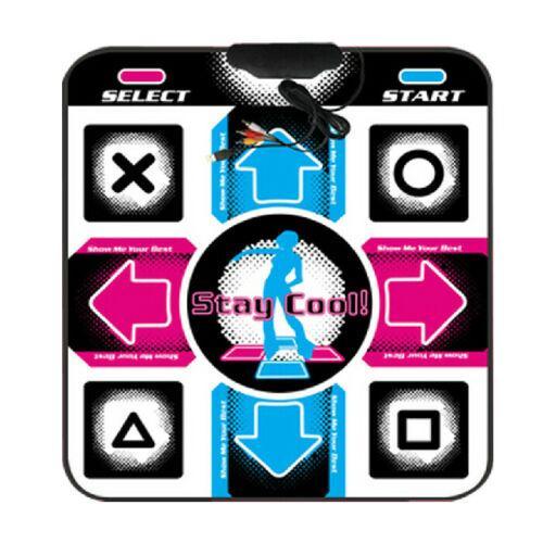 OSTENT USB RCA Non-Slip Dancing Step Dance Pad For PC TV Av Video Game