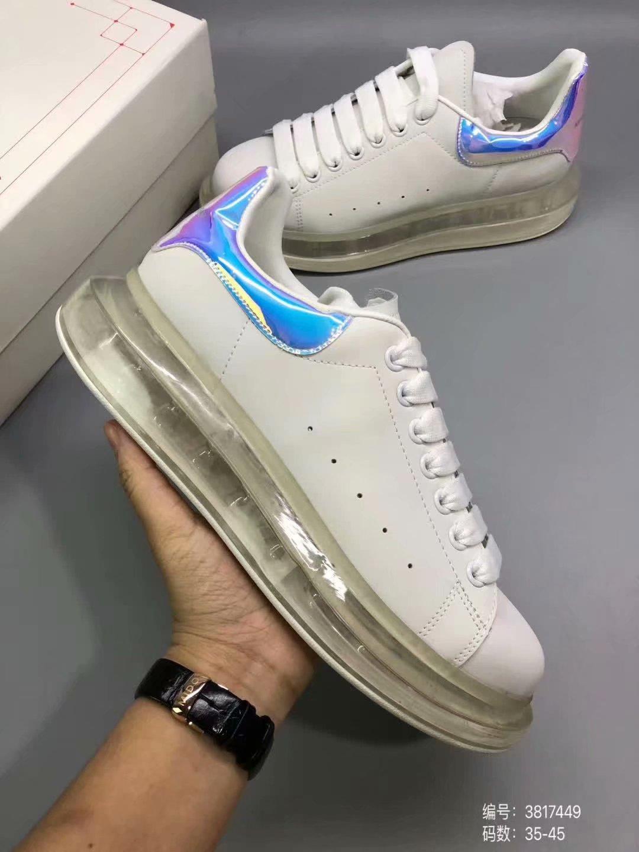 Lüks Erkek Ayakkabı Moda Bayan Sneakers Tasarımcı Beyaz Deri Siyah Geri Platformu Ayakkabı Lady uzatan spor ayakkabı Gündelik Ayakkabılar