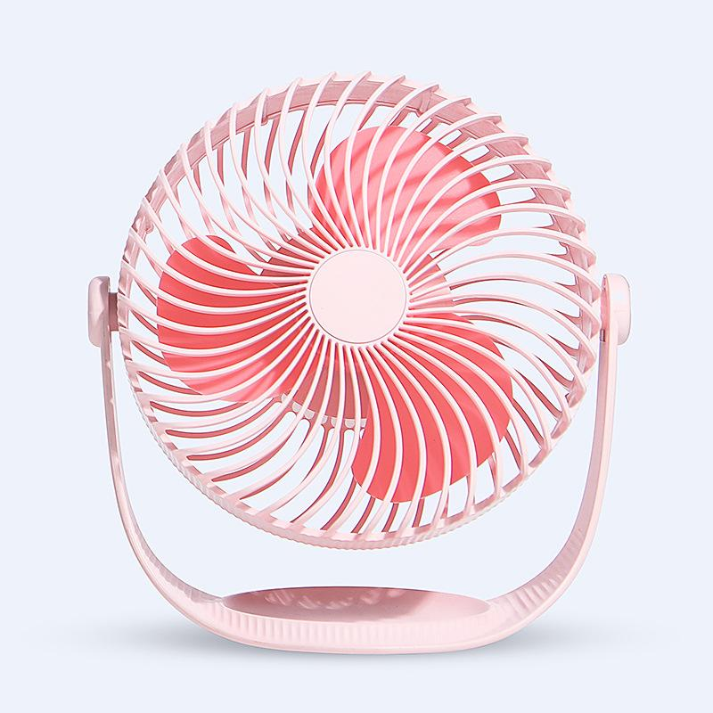 Mini Usb Charging Cold Fan 360 Angle Adjustment Electric Small Fan Portable Silent Desktop Office Fan