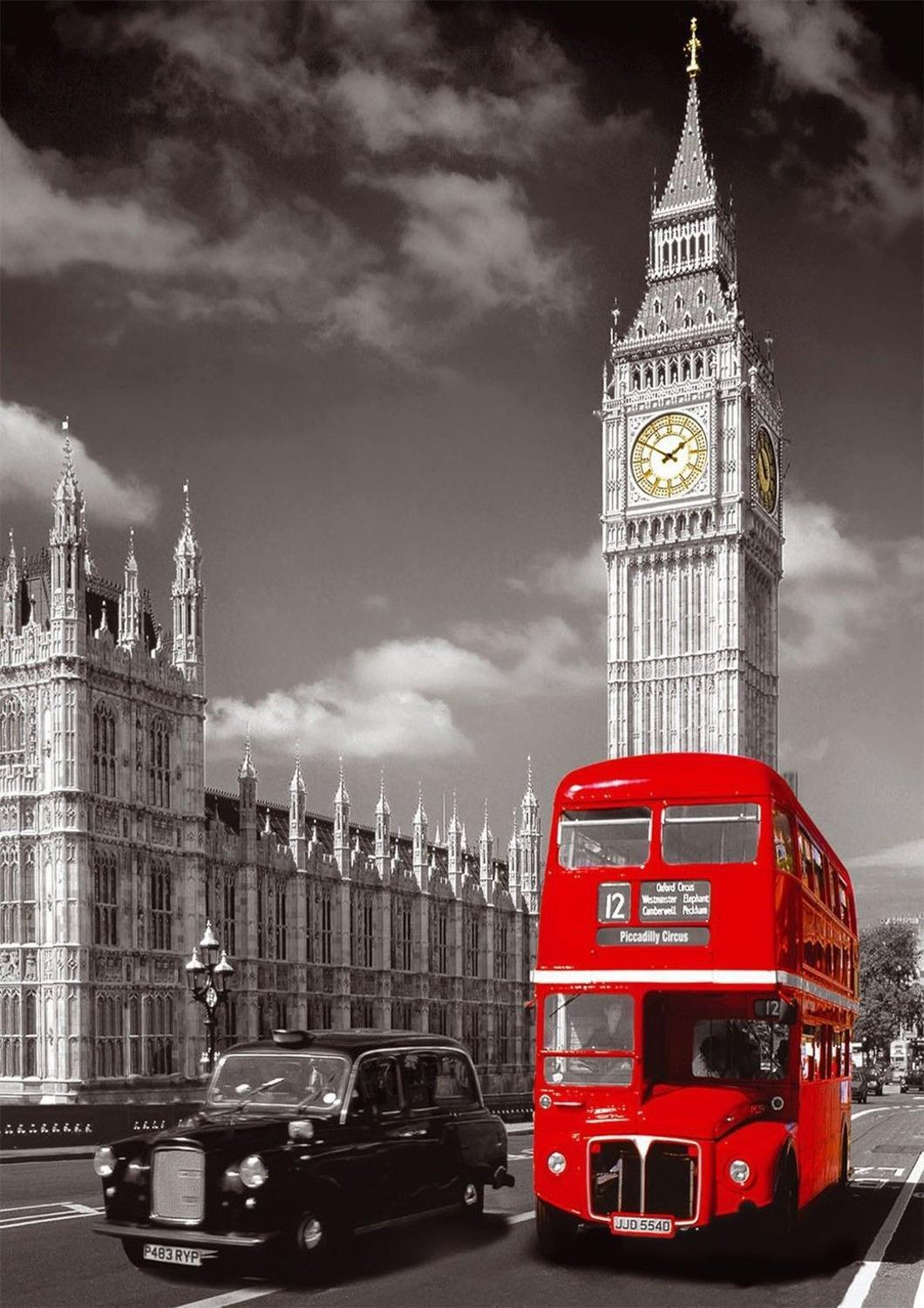 Direct Selling London Bus With Big Ben Cityscape Home Wall Decor Canvas Picture Art Unframed Landscape Hd Print Painting Arts