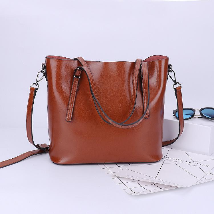 Charm2019 Processing Genuine Leather Woman Package Single Shoulder Portable Restore Ancient Ways Wind Concise Will Capacity Bag