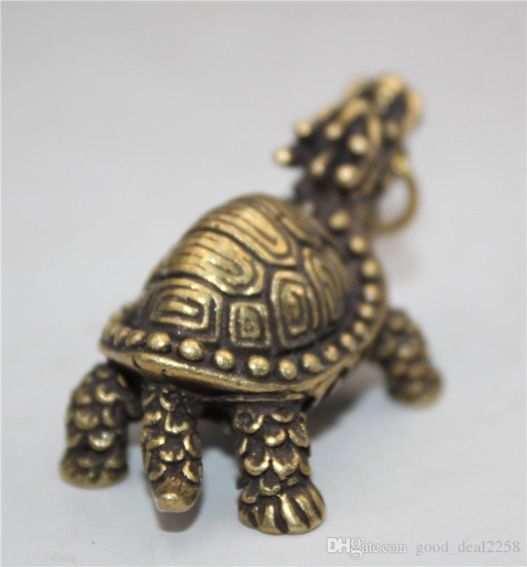 China/'s archaize pure brass tortoise small statue