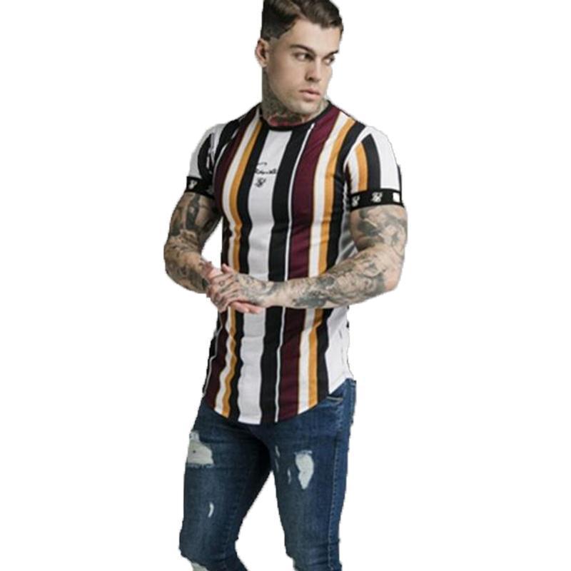 España camiseta del hombre Sik seda de la marca Ropa de Hip Hop Sik camiseta de la manera camisetas casuales Tops camiseta Siksilk camiseta de los hombres M-2XL