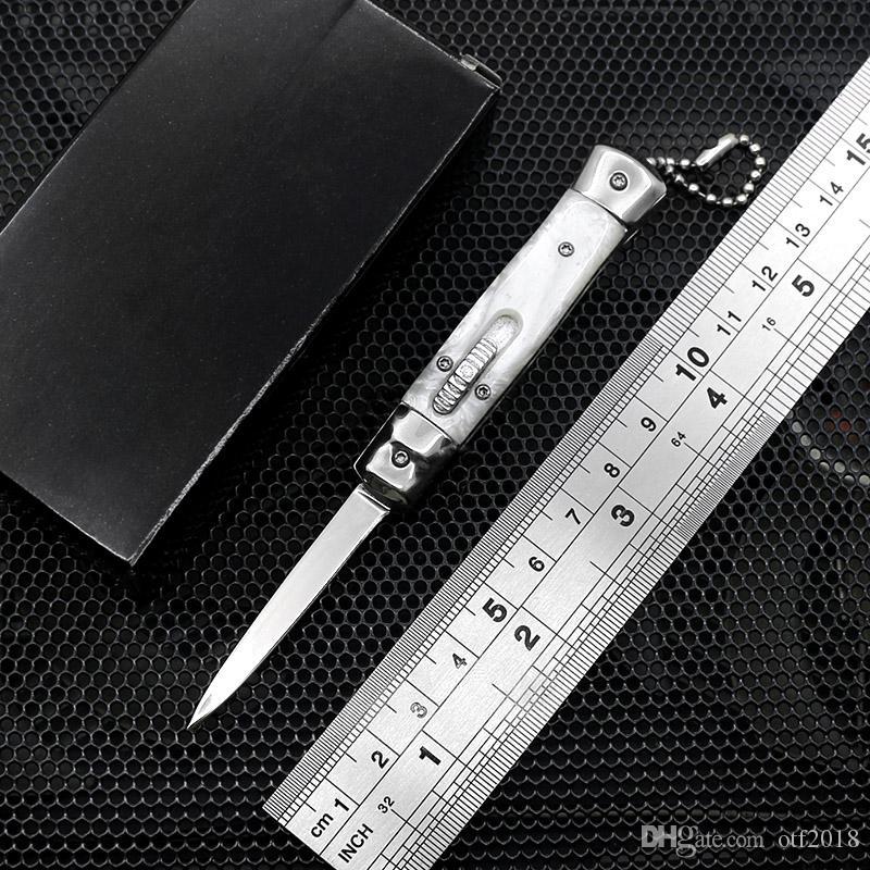 Новый 4,75-дюймовый мини-автоматический нож зеркальное лезвие 7 цветов смолы ручка ключ Scri le dao нож открытый edc многофункциональный резак