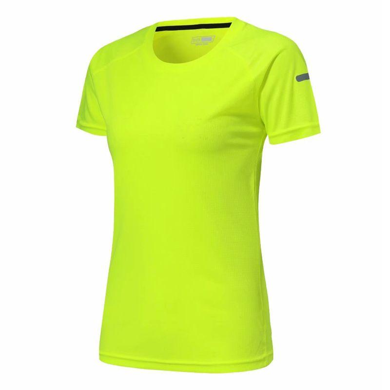 Фитнес Женщины Спорт Рубашка Quick Dry Упругие Йога Топы Колготки Gym Бег футболки Женщины Блузы трикотажные изделия Спортивная тренировка Tee