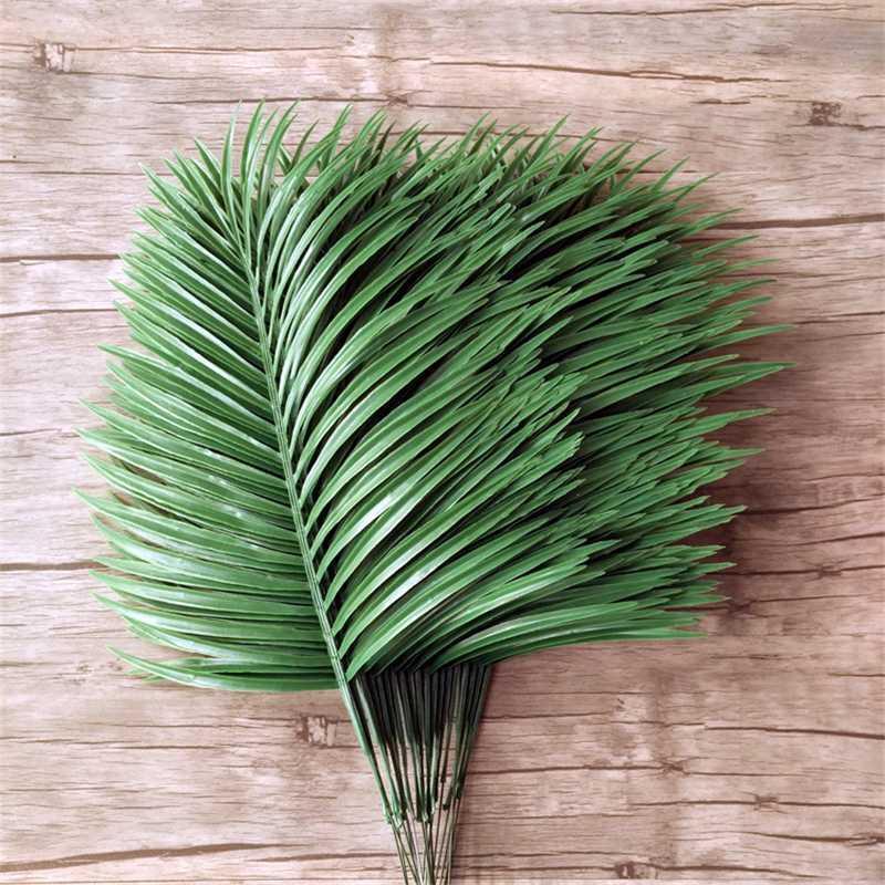 12pcs foglie artificiali verde piante da fiore artificiale della decorazione di arte della parete fiore di plastica giardino decorazione